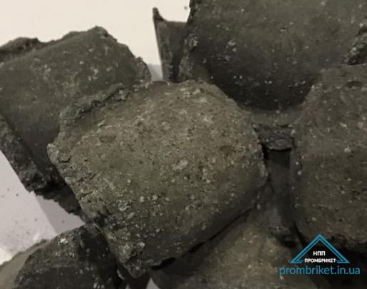 Briquetted calcium aluminate